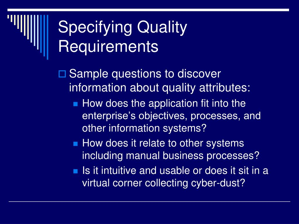 Specifying Quality Requirements