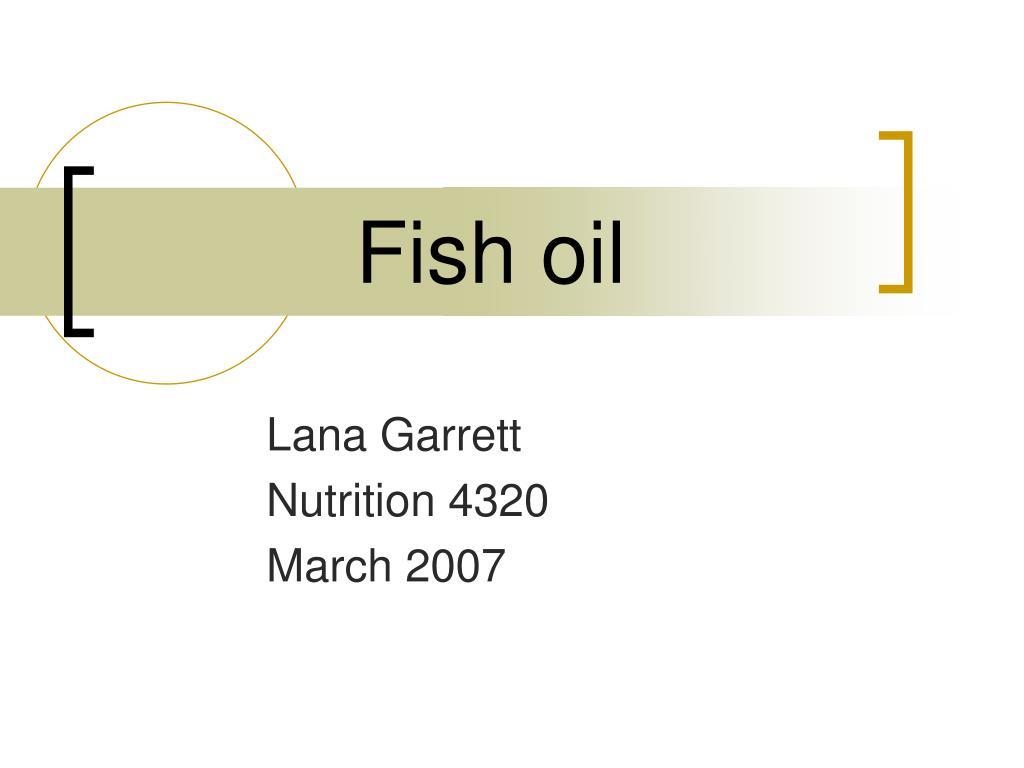 fish oil l.