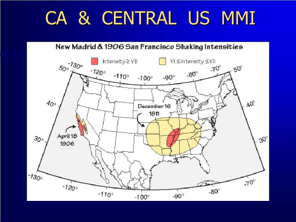CA  &  CENTRAL  US  MMI