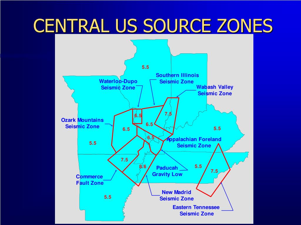 CENTRAL US SOURCE ZONES
