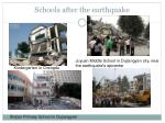 schools after the earthquake