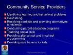 community service providers