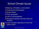school climate issues
