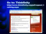 go to thinkfinity http www thinkfinity org pd request training aspx