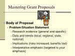 mastering grant proposals30