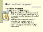 mastering grant proposals32