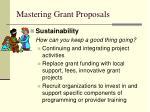 mastering grant proposals54