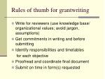 rules of thumb for grantwriting62