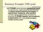 summary example nsf grant