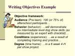 writing objectives example