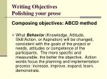 writing objectives polishing your prose46