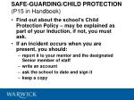 safe guarding child protection p15 in handbook