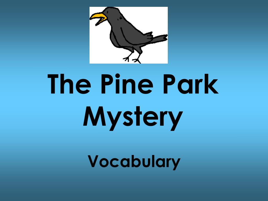 the pine park mystery l.