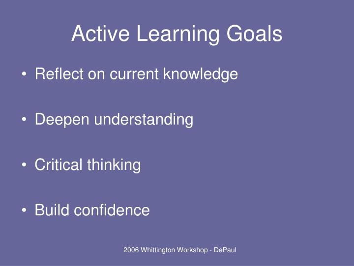 active learning is the key of There is no denying it any longer that classes can be long and students have short attention spans there is a need to keep every student engaged as the minutes tick forward creating an active learning space out of your classroom is a rewarding venture which you need to consider immediately.