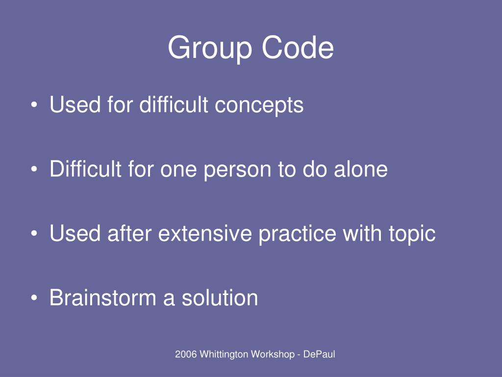 Group Code