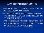 aim of programmes