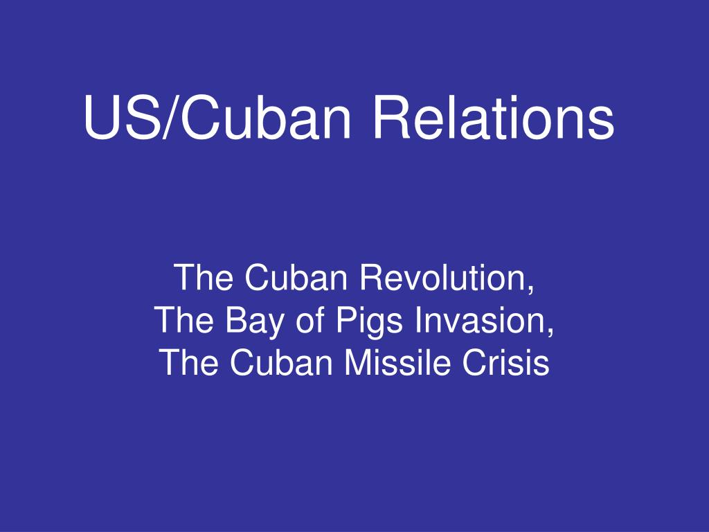 us cuban relations l.