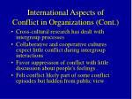 international aspects of conflict in organizations cont59