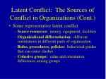 latent conflict the sources of conflict in organizations cont