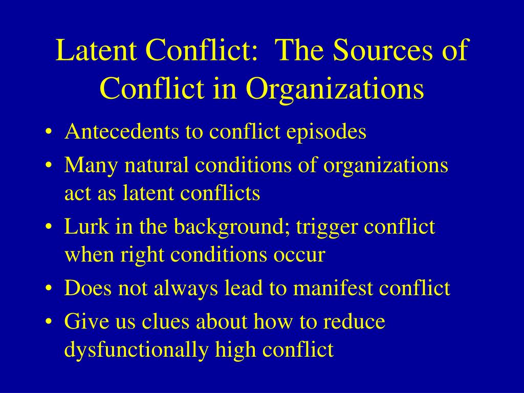 sources of conflict in organizations essay 2018-6-9  several newspapers, magazines, and other news organizations host columns on their web sites that they call blogsthese may be acceptable sources if the writers are professionals, but use them with caution because the blog may not be subject to the news organization's normal fact-checking process.