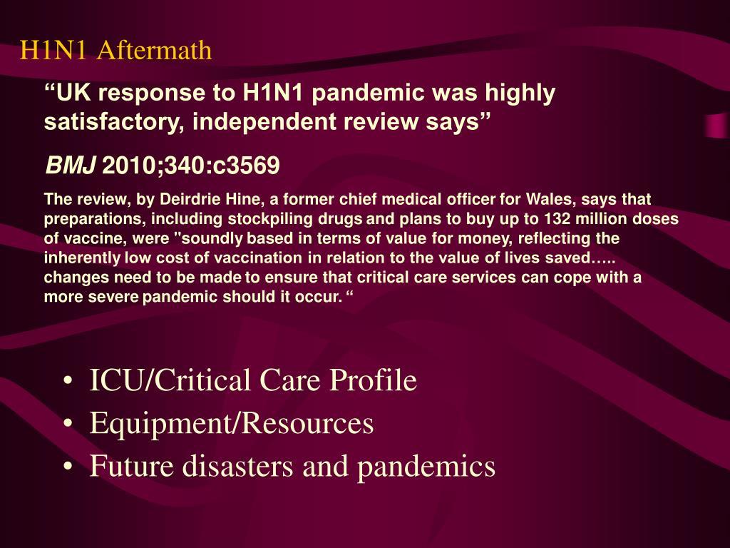 H1N1 Aftermath