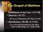 the gospel of matthew10