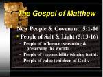 the gospel of matthew6