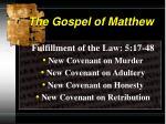 the gospel of matthew7