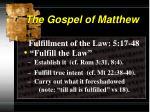 the gospel of matthew8
