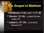 the gospel of matthew9