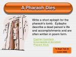 a pharaoh dies