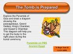 the tomb is prepared