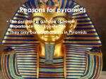 reasons for pyramids