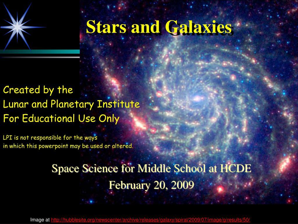 stars and galaxies l.