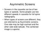 asymmetric screens