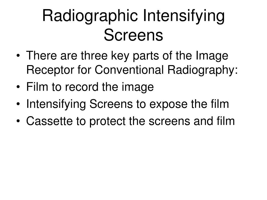 radiographic intensifying screens l.