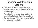 radiographic intensifying screens2
