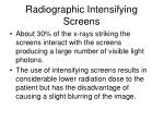 radiographic intensifying screens3