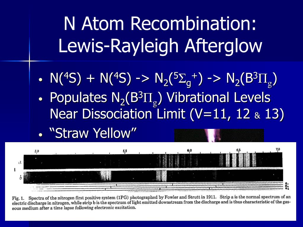 N Atom Recombination: