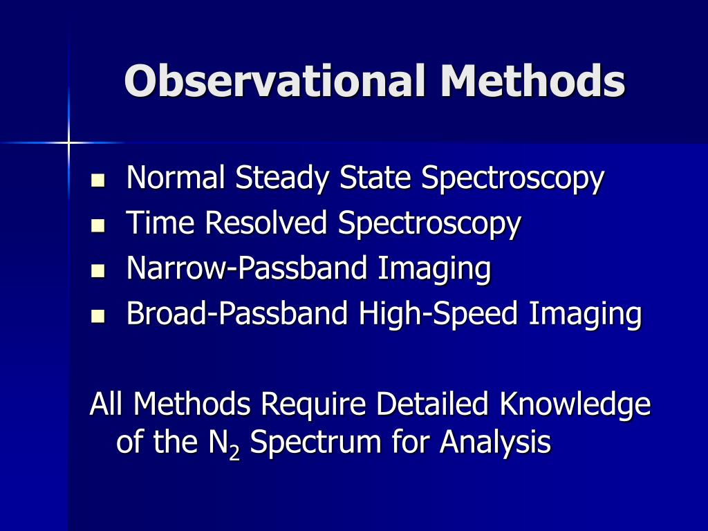 Observational Methods