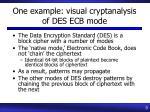 one example visual cryptanalysis of des ecb mode