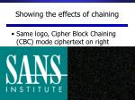 showing the effects of chaining