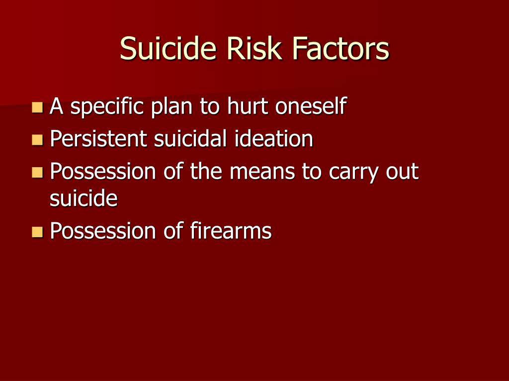 Suicide Risk Factors