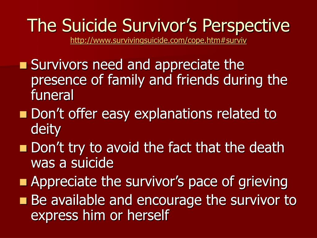 The Suicide Survivor's Perspective