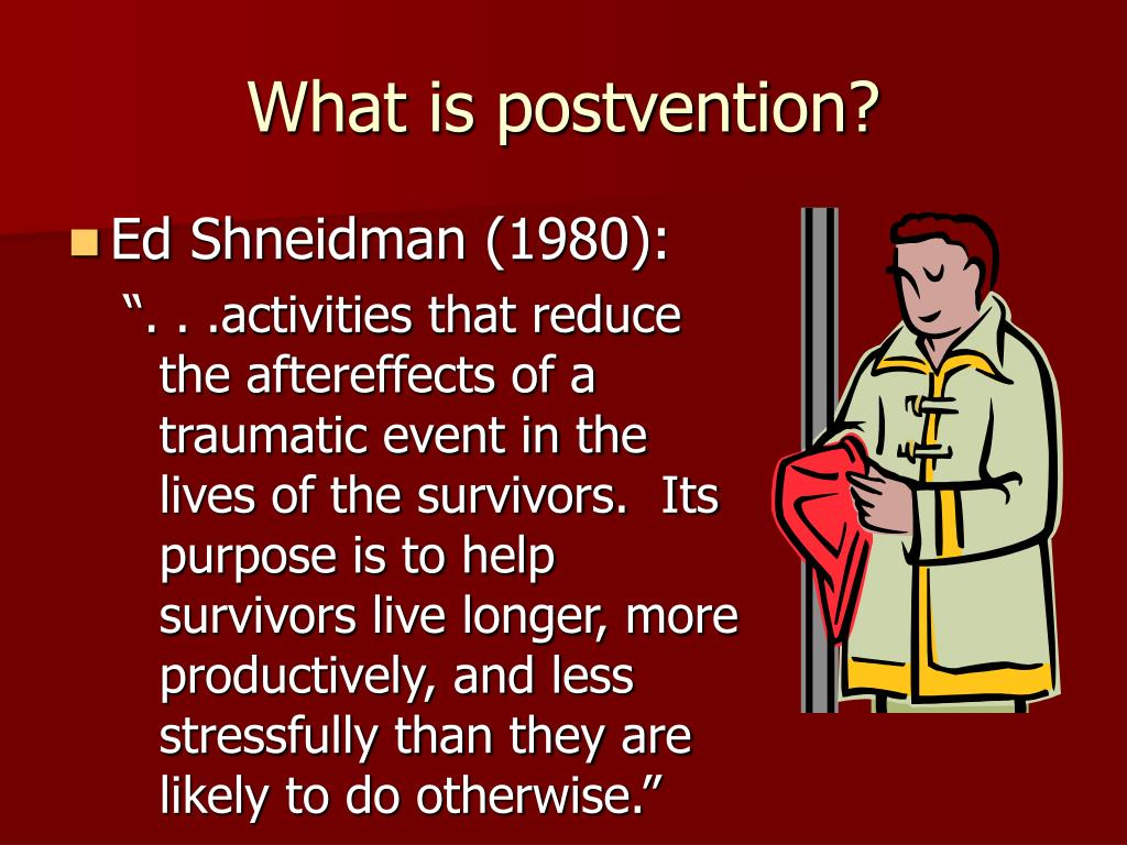 What is postvention?