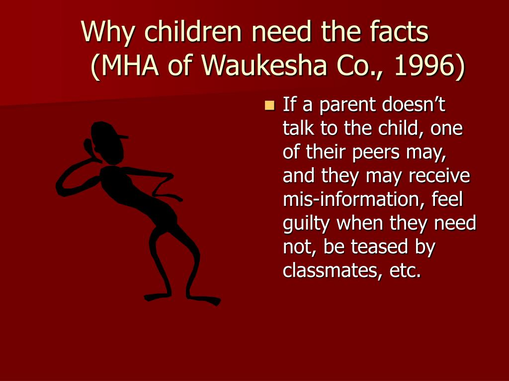 Why children need the facts