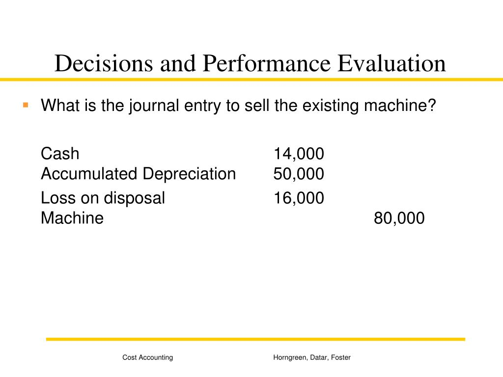 Decisions and Performance Evaluation