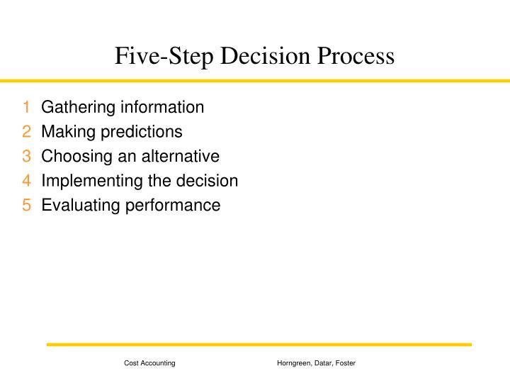 Five step decision process