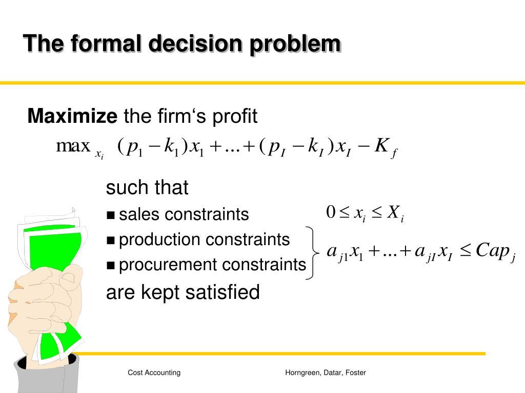 The formal decision problem