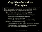 cognitive behavioral therapies